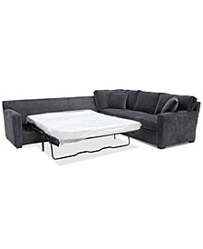 Brekton 2-Pc. Fabric Sofa Return with Queen Sleeper