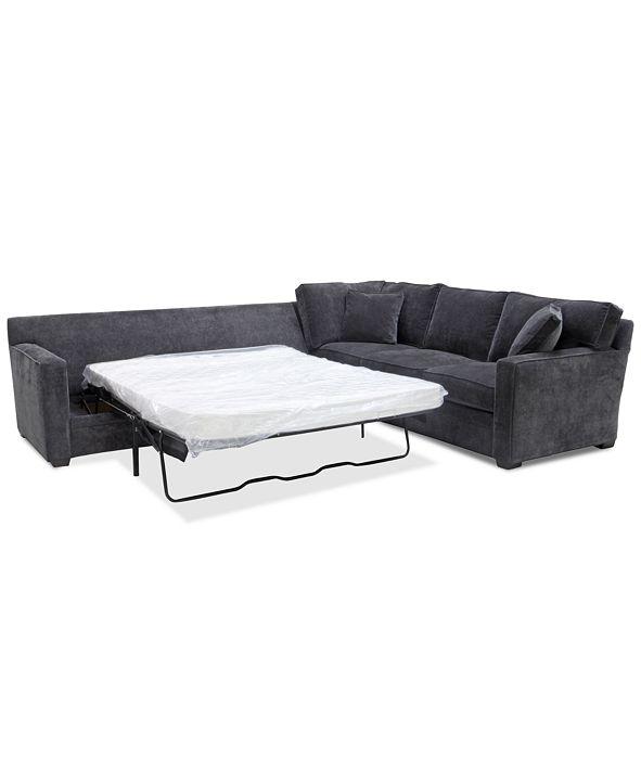 Furniture Brekton 2-Pc. Fabric Sofa Return with Queen Sleeper