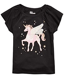 Little Girls Winged Unicorn T-Shirt, Created For Macy's