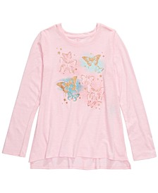 Big Girls Butterfly T-Shirt, Created For Macy's