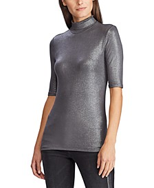Petite Stretch Turtleneck Top