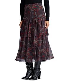 Petite Tiered Georgette Skirt