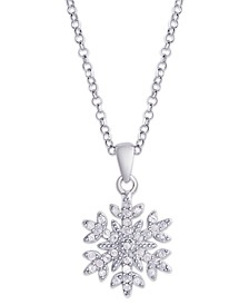 Diamond 1/4 ct. t.w. Snowflake Pendant Necklace in Sterling Silver