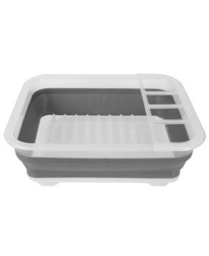 Hds Trading Collapsible Plastic and Silicone Dish Rack