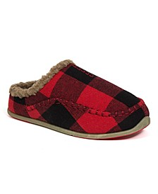 Little and Big Boys Slipperooz Lil Nordic S.U.P.R.O. Sock Cushioned Indoor Outdoor Clog Slipper