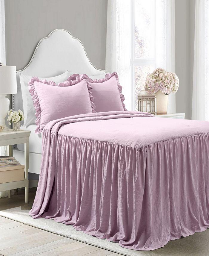 Lush Décor - Ruffle Skirt 3-Pc. Bedspread Sets