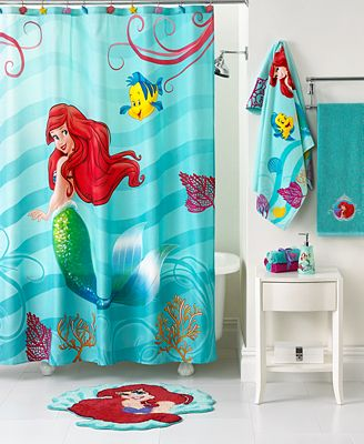 Curtains Ideas ariel shower curtain : Disney Bath, Little Mermaid Shimmer and Gleam Collection ...