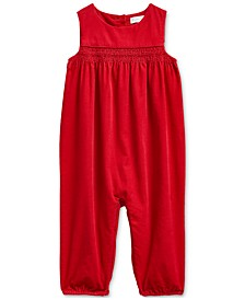 Baby Girls  Cotton Corduroy Overall