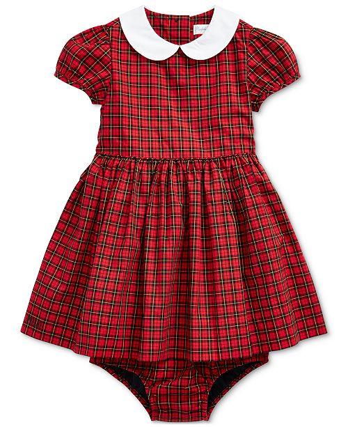 Polo Ralph Lauren Baby Girls Tartan Plaid Cotton Dress