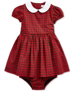 50s Girl Costumes, 50s Girl's Dresses Polo Ralph Lauren Baby Girls Tartan Plaid Cotton Dress $65.00 AT vintagedancer.com