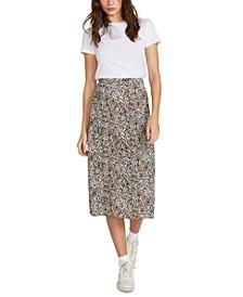 I'm A Leo Printed Midi Skirt