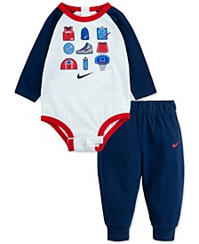 Baby Boys 2-Pc. Basketball Bodysuit & Jogger Pants Set