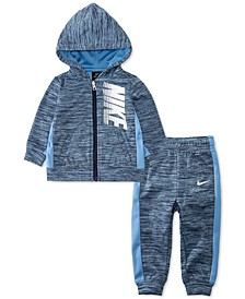 Baby Boys 2-Pc. Therma Fleece Full-Zip Hoodie & Pants Set