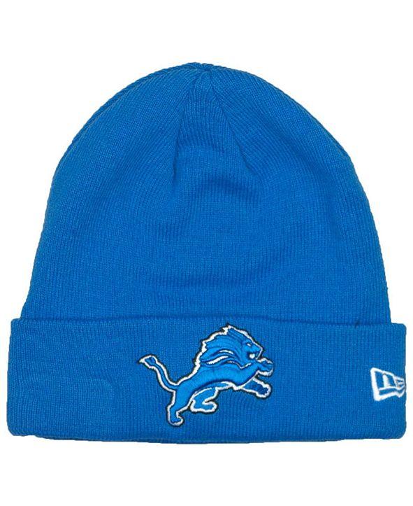 New Era Detroit Lions Basic Cuff Knit Hat