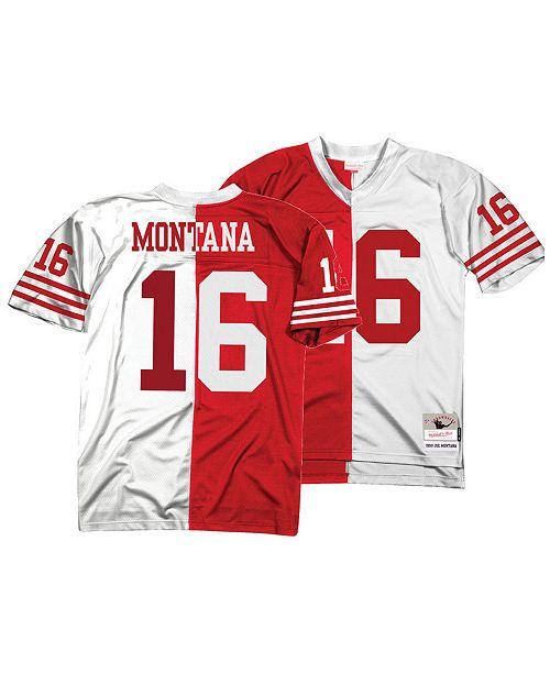 Mitchell & Ness Men's Joe Montana San Francisco 49ers Home & Away Split Legacy Jersey