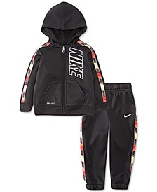 Baby Boys 2-Pc. Gradient-Tape Zip Fleece Hoodie & Pants Set