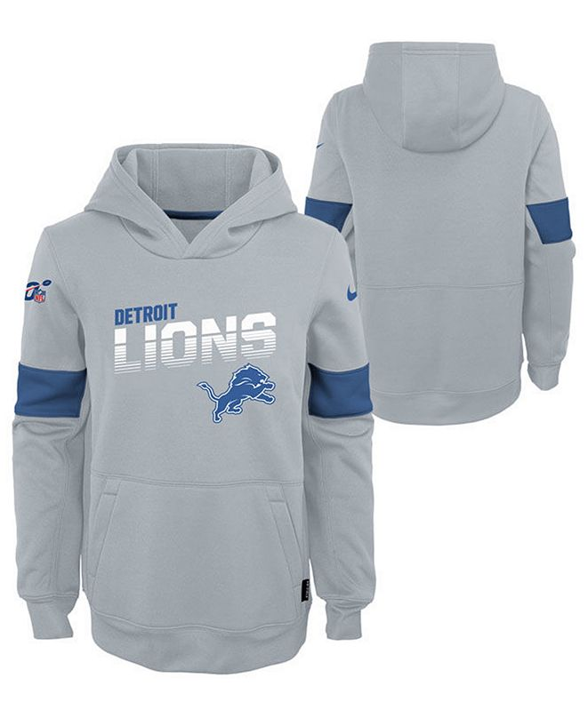 Nike Big Boys Detroit Lions Therma Hoodie