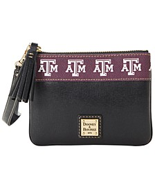 Texas A&M Aggies Saffiano Stadium Zip Wristlet