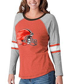 Women's Cleveland Browns Long Sleeve Top Pick T-Shirt