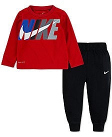 Baby Boys 2-Pc. Dri-FIT Thermal Top & Pants Set