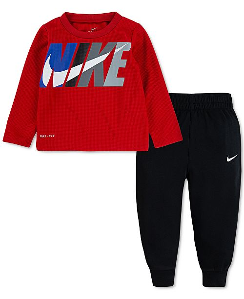 Nike Baby Boys 2-Pc. Dri-FIT Thermal Top & Pants Set