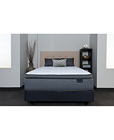 "Luxury Prescott 15"" Plush Pillow Top Mattress Set- Twin"