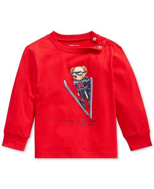 Polo Ralph Lauren Baby Boys Ski Bear Jersey T-Shirt, Created For Macy's