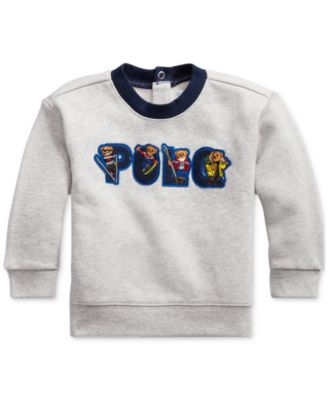 Baby Boy Ski Bear Fleece Sweatshirt