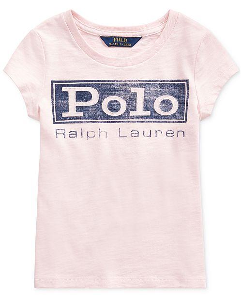 Polo Ralph Lauren Little Girls Cotton Jersey Logo T-Shirt