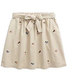 Big Girls Dog Cotton Twill Skirt