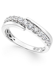 Diamond Diagonal Band (5/8 ct. t.w.) in 14k White Gold
