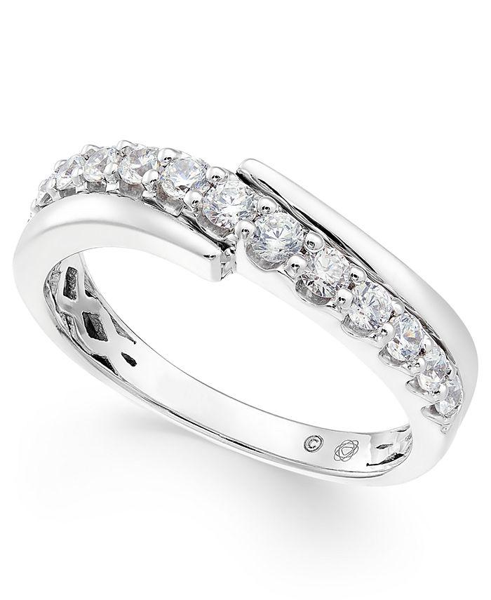 Macy's - Diamond Diagonal Band (5/8 ct. t.w.) in 14k White Gold