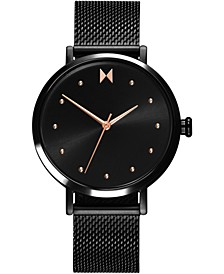 Women's Dot Spin Black Stainless Steel Mesh Bracelet Watch 36mm