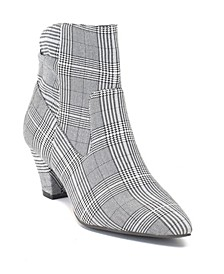 Levi Cone Heeled Plaid Ankle Boot