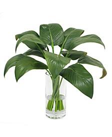 Permanent Botanicals Calla Leaf in Vase