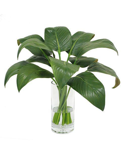 Winward Silks Permanent Botanicals Calla Leaf in Vase