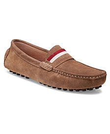 Members Only Men's Leather Moccasin Loafers