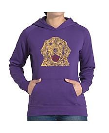 Women's Word Art Hooded Sweatshirt -Dog