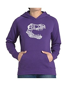 Women's Word Art Hooded Sweatshirt -Trex