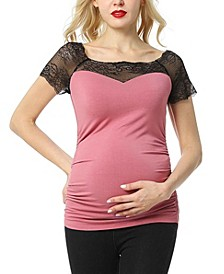Valerie Lace Maternity Top