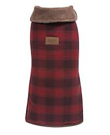 Red Ombre Plaid Dog Coat, Medium