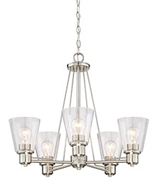 Designers Fountain Printers Row 5 Light Chandelier
