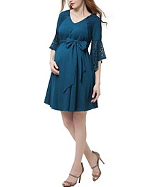 Abbey Maternity Bell Sleeve Dress