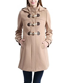 Paisley Maternity Wool Blend Duffle Toggle Coat