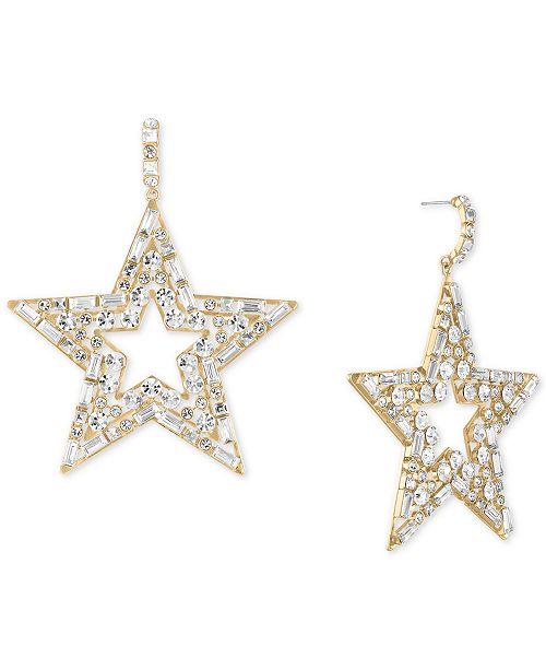RACHEL Rachel Roy Gold-Tone Crystal Star Drop Earrings