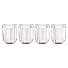 Park Circle Clear Glass, Set of 4