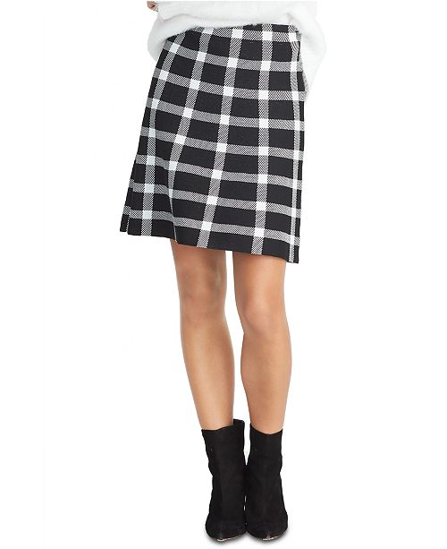 RACHEL Rachel Roy Brooks Plaid Sweater Skirt