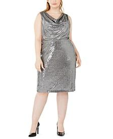 Plus Size Sequined Sheath Dress