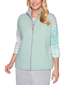 Petite Lake Geneva Reversible Quilted Anti-Pill Vest