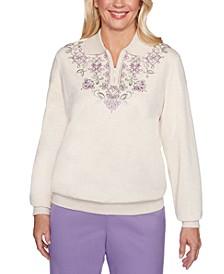 Petite Loire Valley Embroidered Sweatshirt